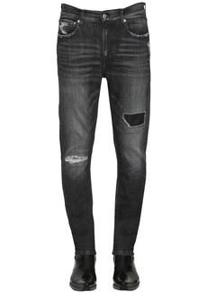 Calvin Klein Slim Fit Distressed Cotton Denim Jeans