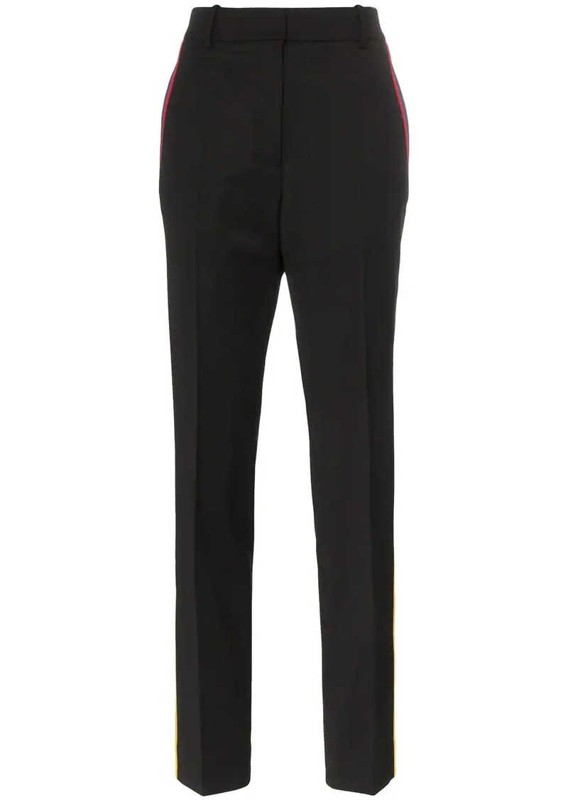 Calvin Klein slim fit high-waisted piping trousers