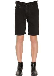 Calvin Klein Slim Fit Logo Embroidered Denim Shorts