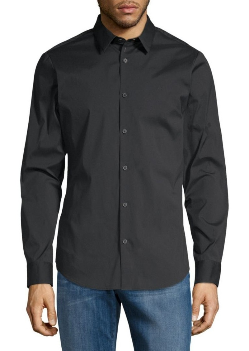 Calvin Klein Slim-Fit Long-Sleeve Shirt