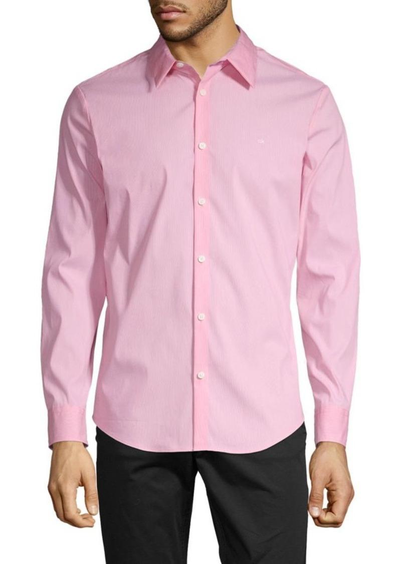 Calvin Klein Slim-Fit Stretch Cotton Button-Down Shirt
