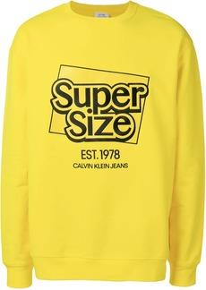 Calvin Klein slogan logo sweatshirt
