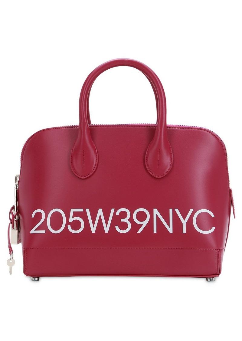 Calvin Klein Small Dalton Logo Printed Leather Bag