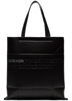 Calvin Klein small geometric leather tote bag