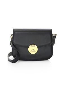 Calvin Klein Small Round Leather Lock Shoulder Bag
