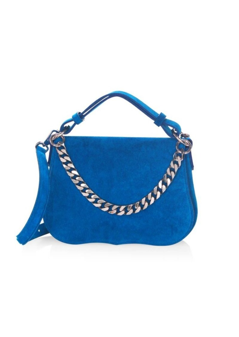 Calvin Klein Small Suede Shoulder Bag