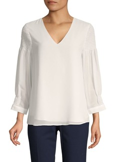 Calvin Klein Smocked V-neck Top