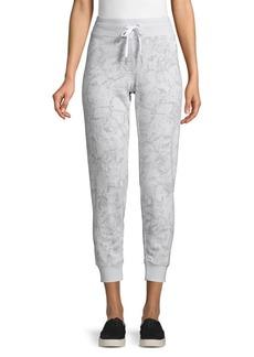 Calvin Klein Snakeskin-Print Cotton-Blend Cropped Jogger Pants