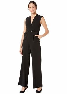 Calvin Klein Solid Belted Jumpsuit