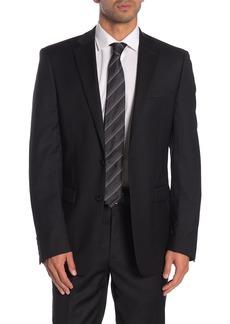 Calvin Klein Solid Black Suit Suit Separates Jacket
