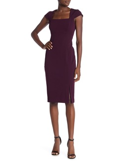 Calvin Klein Solid Cap Sleeve Sheath Dress