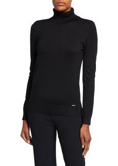 Calvin Klein Solid Long-Sleeve Turtleneck Top