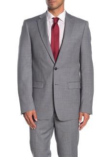 Calvin Klein Solid Medium Grey Suit Suit Separates Jacket