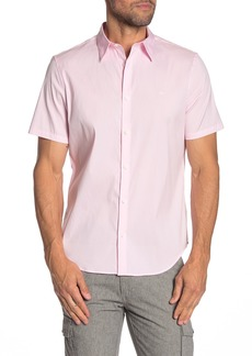 Calvin Klein Solid Short Sleeve Stretch Fit Shirt