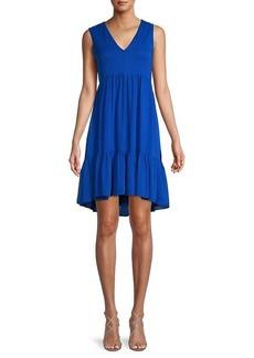Calvin Klein Solid Tiered Dress