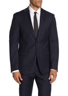 Calvin Klein Solid Two Button Slim Fit Wool Blend Suit Separate Sport Coat