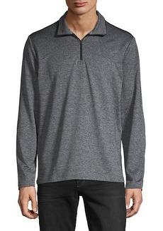 Calvin Klein Space-Dye Quarter-Zip Sweater