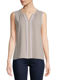 Splitneck Sleeveless Top