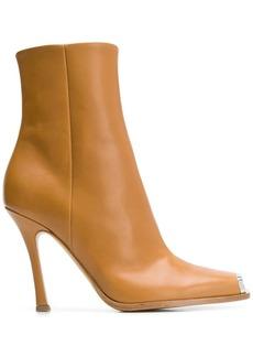 Calvin Klein square toe cap ankle boots