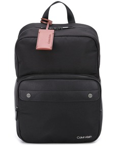 Calvin Klein squared logo patch backpack