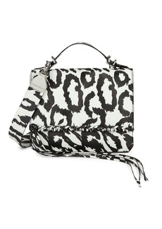 Calvin Klein Statement Series Fringe Print Messenger Bag