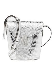 Calvin Klein Statement Series Snake Embossed Leather Crossbody Bag