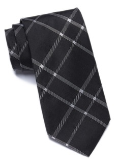 Calvin Klein Stitch Plaid Silk Tie
