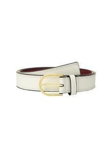 Stitched Flat Strap Belt w/ Eyelets
