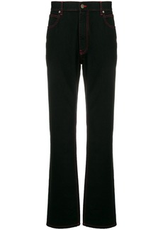 Calvin Klein stitching detail bootcut jeans