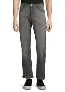 Calvin Klein Straight-Fit Distressed Jeans