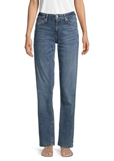 Calvin Klein Straight-Fit Mid-Rise Jeans