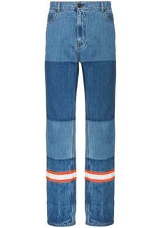 Calvin Klein Straight leg patchwork jeans