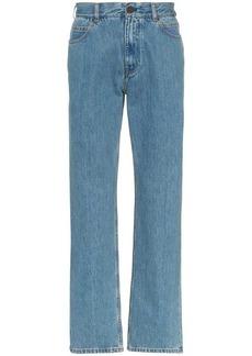 Calvin Klein straight leg Jaws print denim jeans