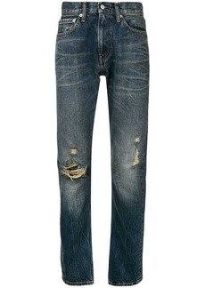 Calvin Klein straight leg ripped knee jeans