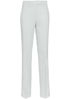 Calvin Klein Straight Leg Wool Trousers with Tuxedo Stripe
