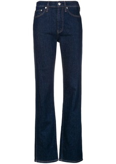 Calvin Klein straight printed back jeans