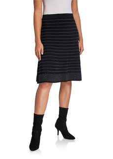 Calvin Klein Straight Skirt With Contrast Stitching