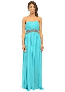 Calvin Klein Strapless Gown with Sequin at Waist CD6B2ZRZ