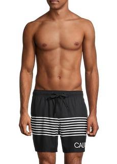 Calvin Klein Stretch Euro Volley Striped Swim Shorts