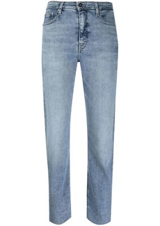 Calvin Klein high-rise cropped jeans