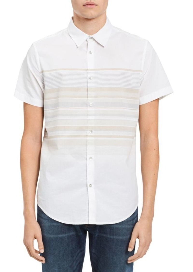 Calvin Klein Stripe Cotton Button-Down Shirt