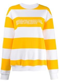 Calvin Klein stripe-print logo sweatshirt