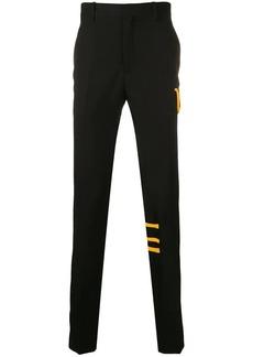 Calvin Klein stripe-trim trousers