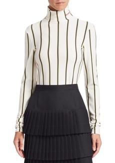 Calvin Klein Stripe Turtleneck Knit Sweater