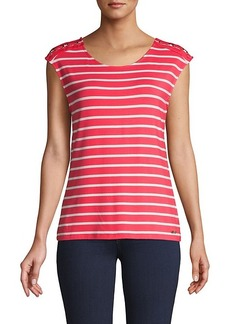 Calvin Klein Striped Cap-Sleeve Top