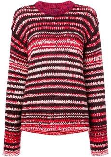 Calvin Klein striped chunky knit jumper