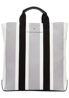 Calvin Klein Striped Cotton Jacquard Tote Bag