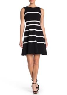 Tommy Hilfiger Striped Crepe Fit & Flare Dress