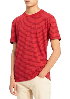 Calvin Klein Striped Crewneck Cotton Tee
