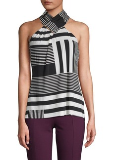 Calvin Klein Striped Halter Top